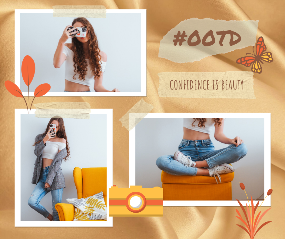 Facebook Post template: Outfit Of The Day Fashion Facebook Post (Created by Collage's Facebook Post maker)
