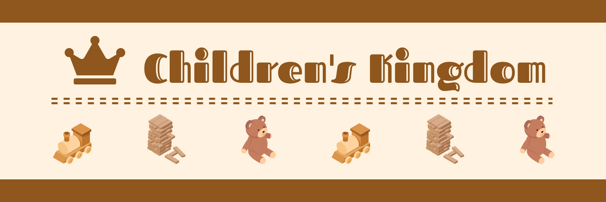 Twitter Header template: Brown Twitter Header Created For Toy Store (Created by InfoART's Twitter Header maker)