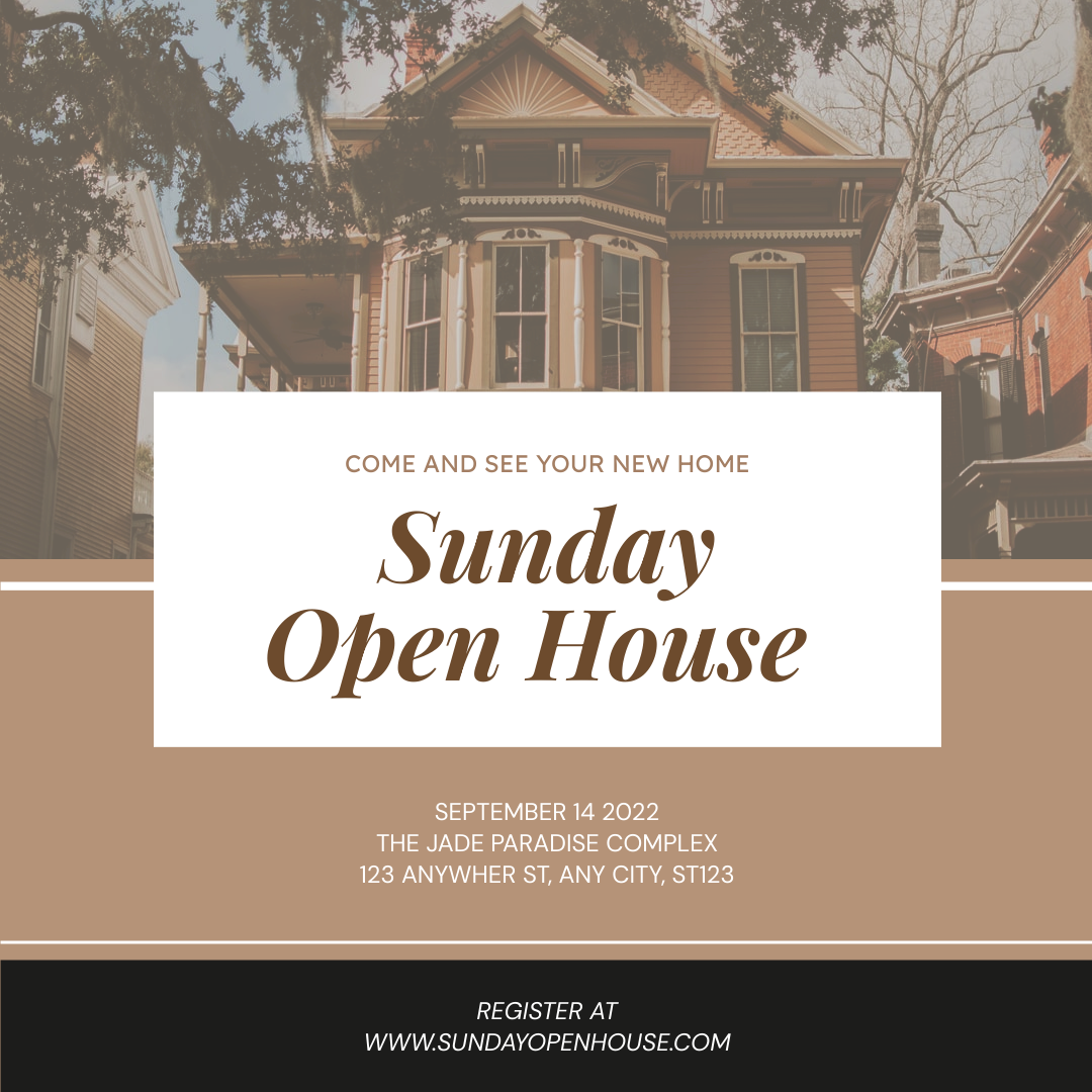 Instagram Post template: Sunday Open House Instagram Post (Created by InfoART's Instagram Post maker)