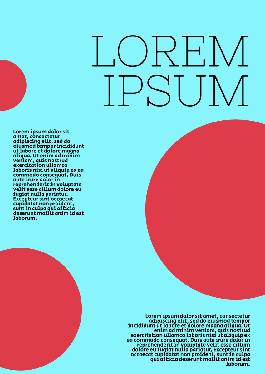 Poster template: Contrasting Color Poster (Created by InfoART's Poster maker)