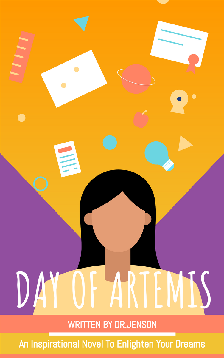 Book Cover template: Motivational Stories Of Artemis Book Cover (Created by InfoART's Book Cover maker)