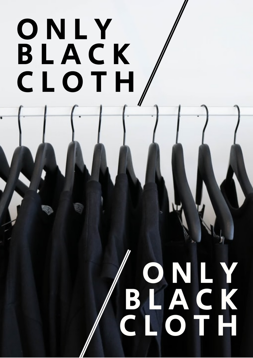 Poster template: Black Clothes Poster (Created by InfoART's Poster maker)