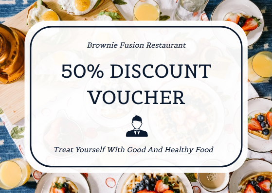 Gift Card template: Fusion Restaurant Photo Food Discount Gift Card (Created by InfoART's Gift Card maker)