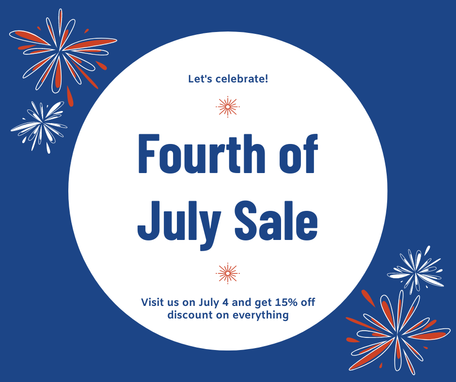 Facebook Post template: Blue and Red Fourth of July Sale Facebook Post (Created by InfoART's Facebook Post maker)