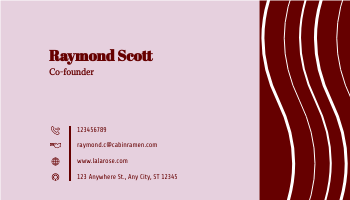 Business Card template: Rosey Business Cards (Created by InfoART's Business Card maker)