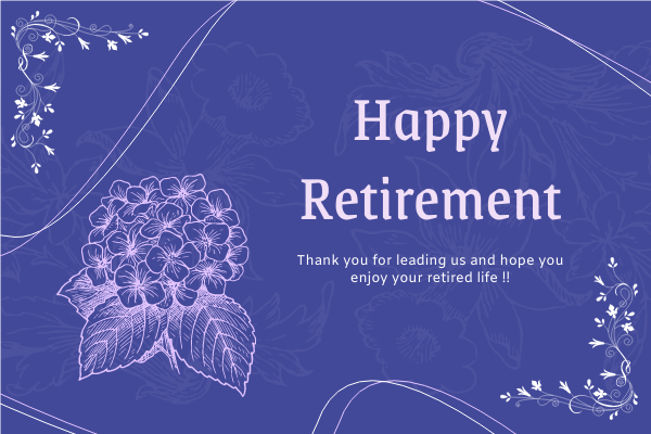 Greeting Card template: Happy Retirement Greeting Card (Created by InfoART's Greeting Card maker)