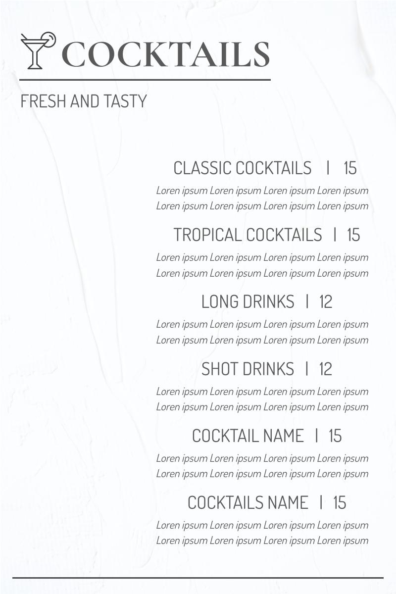 Cocktails Menu 2