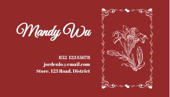 Business Card template: Flower Shop Business Cards (Created by InfoART's Business Card maker)