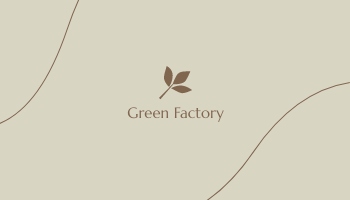Business Card template: Green Factory Business Cards (Created by InfoART's Business Card maker)