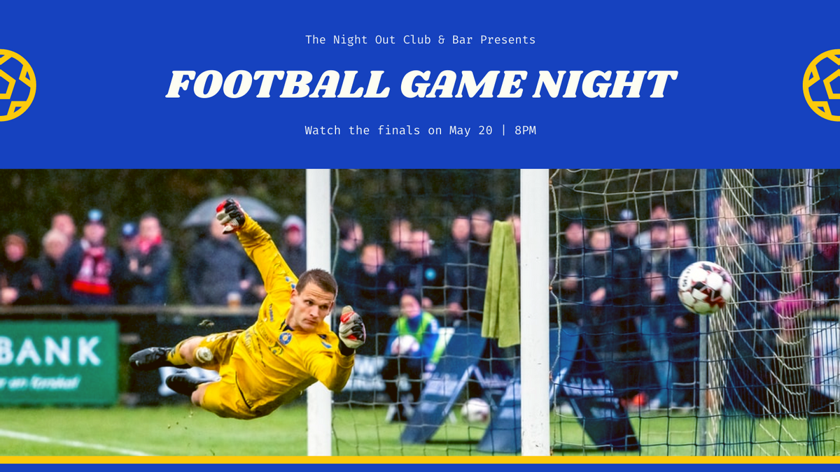 Twitter Post template: Football Boys Night Out Twitter Post (Created by InfoART's Twitter Post maker)