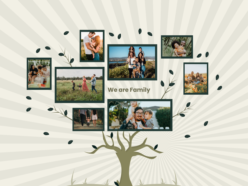 Family Tree template: We are Family Tree (Created by Collage's Family Tree maker)
