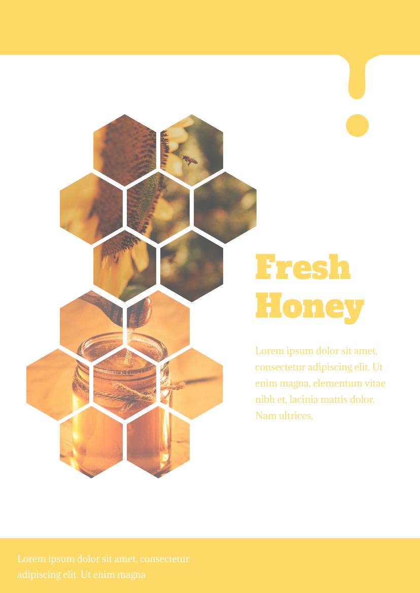 Flyer template: Honey flyer (Created by InfoART's Flyer maker)