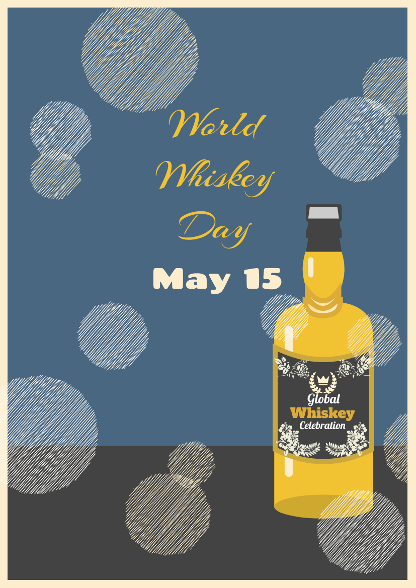 Flyer template: Graphic World Whiskey Day Flyer (Created by InfoART's Flyer maker)
