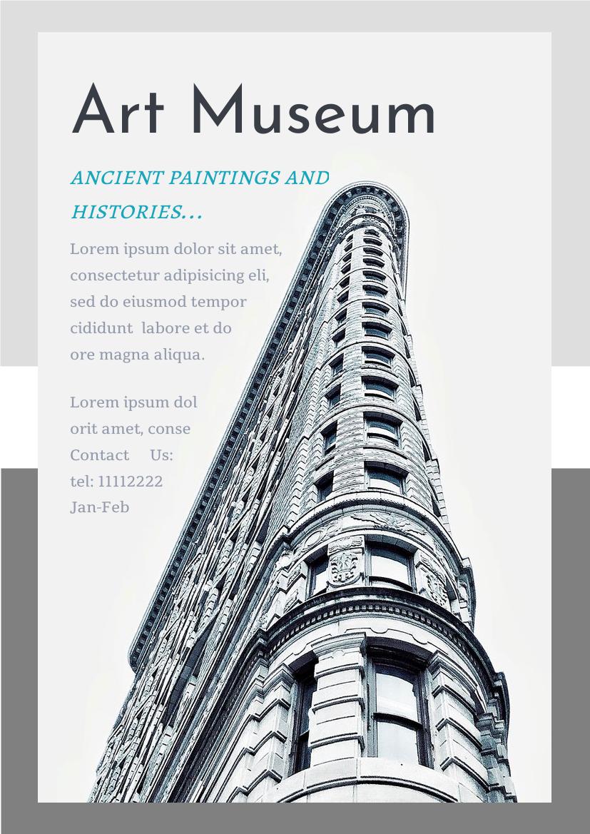 Flyer template: Art Museum Flyer (Created by InfoART's Flyer maker)