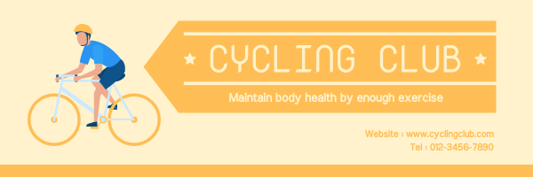 Email Header template: Orange Cycling Club Email Header With Details (Created by InfoART's Email Header maker)