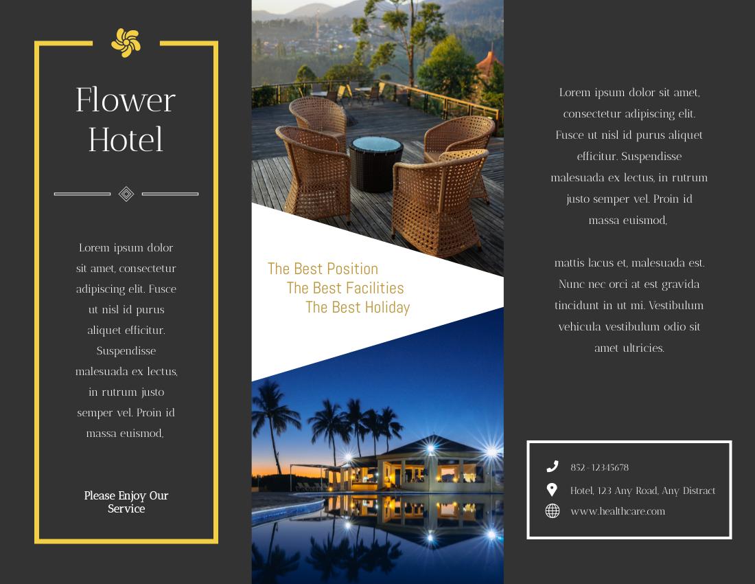 Brochure template: Hotel Brochure (Created by InfoART's Brochure marker)