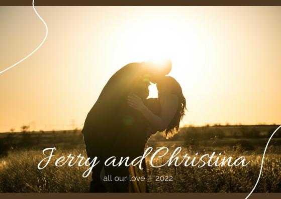 Postcard template: Marriage Postcard (Created by InfoART's Postcard maker)
