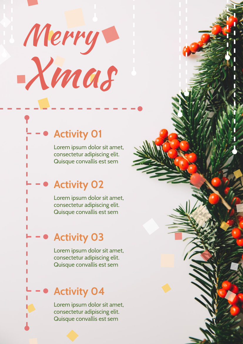 Flyer template: Christmas Activities Informative Flyer (Created by InfoART's Flyer maker)