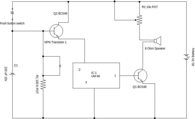 Circuit Diagram template: Door Bell (Created by Diagrams's Circuit Diagram maker)