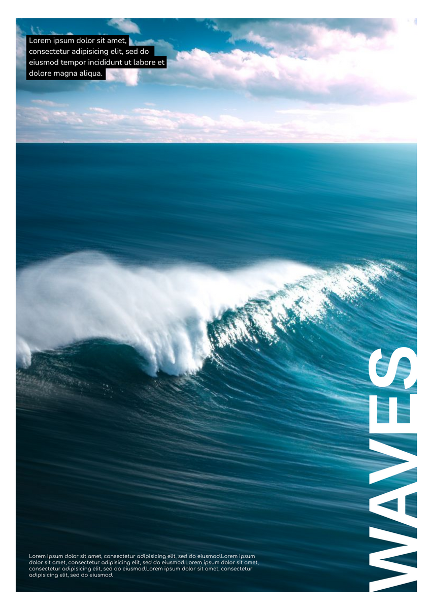 Poster template: Waves And Sea Poster (Created by InfoART's Poster maker)