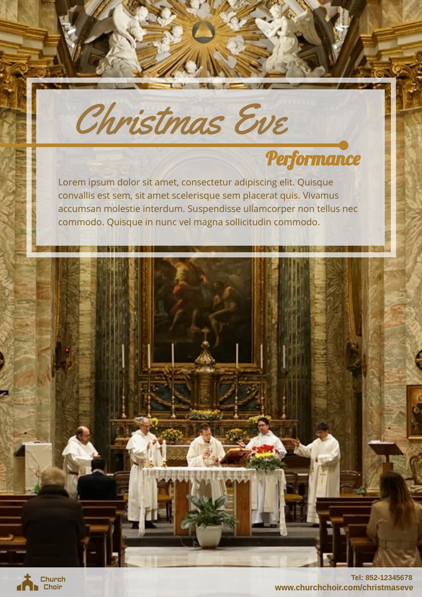 Flyer template: Christmas Eve Performance Flyer (Created by InfoART's Flyer maker)