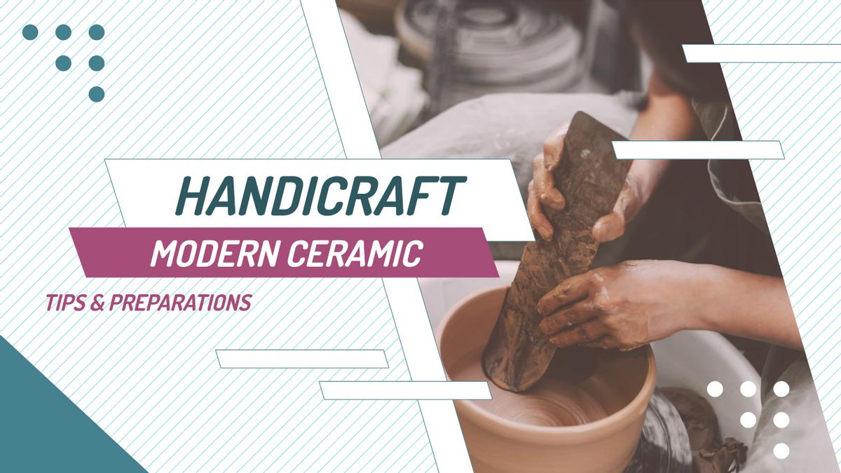 YouTube Thumbnail template: Modern Ceramic Tips YouTube Thumbnail (Created by InfoART's YouTube Thumbnail maker)