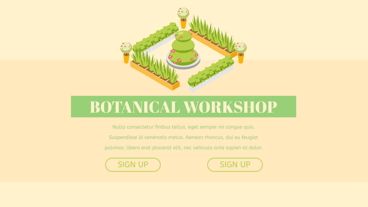 Isometric Diagram template: Botanical Workshop Isometric Diagram (Created by InfoART's Isometric Diagram marker)