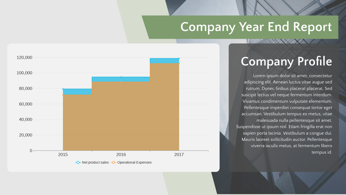 Stepped Area Chart template: Company Year End Report Stepped Area Chart (Created by Chart's Stepped Area Chart maker)