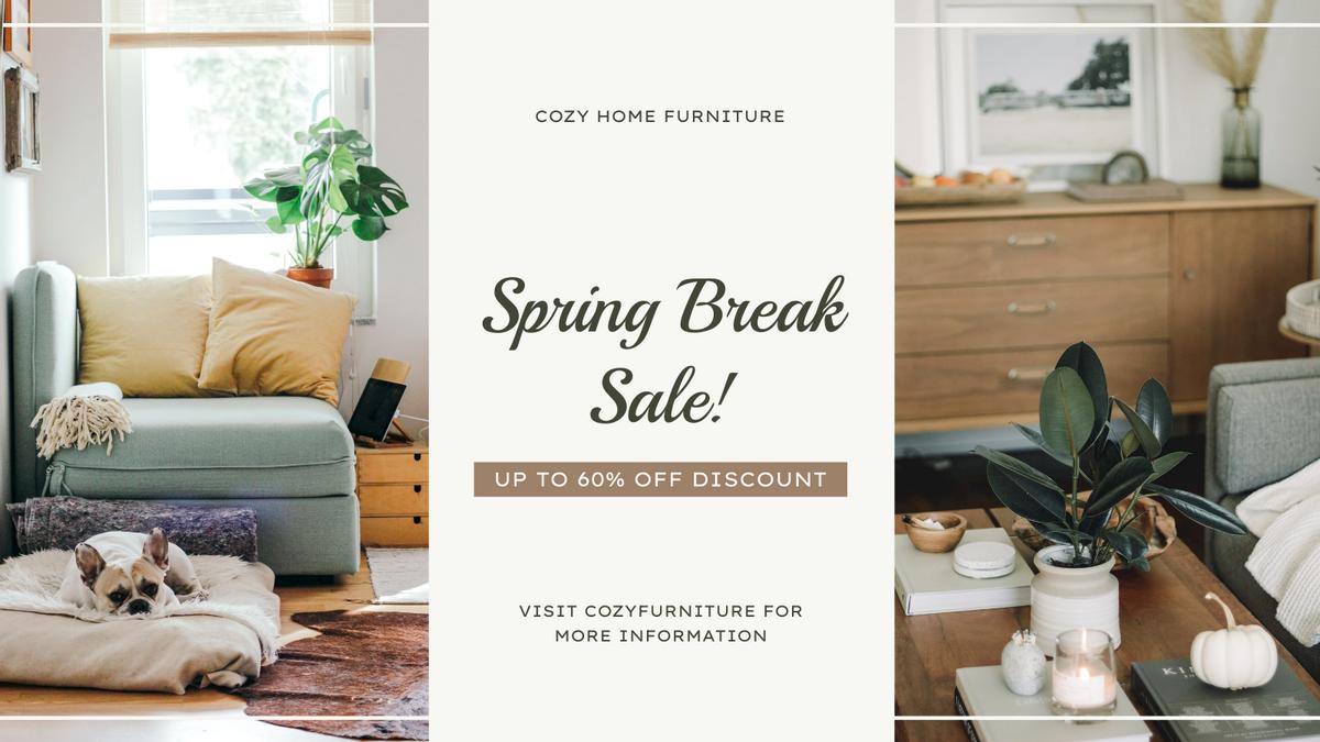 Twitter Post template: Earthy Tone Home Photo Furniture Sale Twitter Post (Created by InfoART's Twitter Post maker)