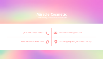 Business Card template: Clean Holographic Business Card (Created by InfoART's Business Card maker)