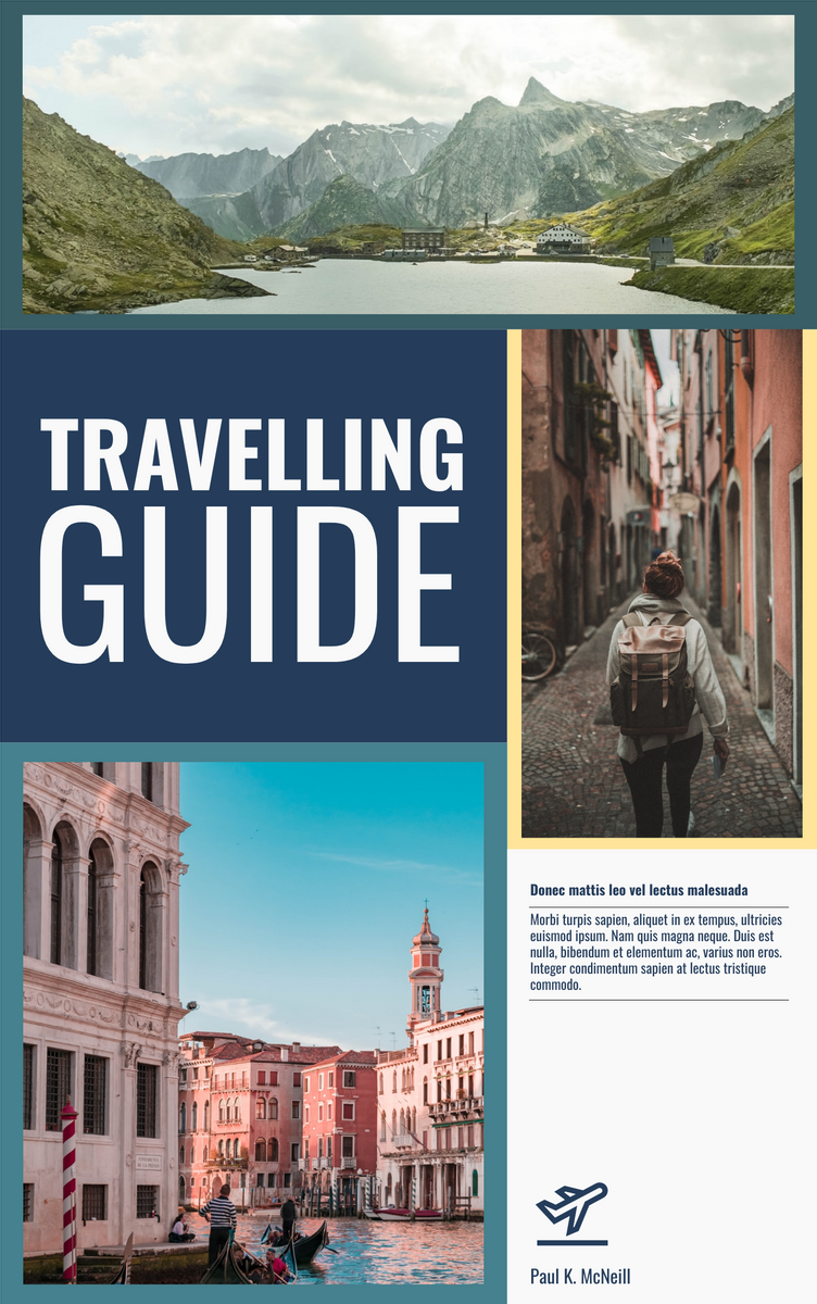 Book Cover template: Travelling guide book cover (Created by InfoART's Book Cover maker)