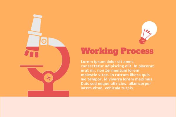 Laboratory template: Microscope Working Process (Created by InfoChart's Laboratory maker)