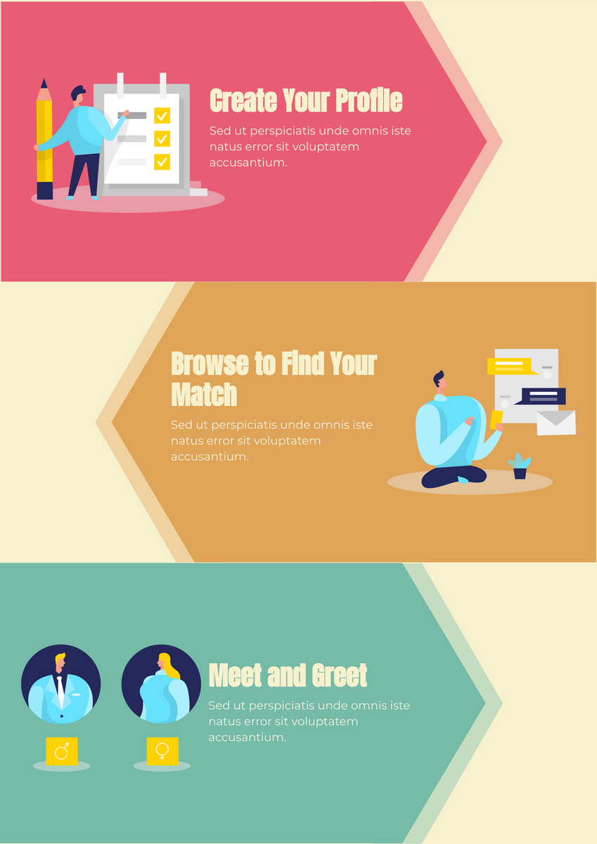 Poster template: Match Making Tips (Created by InfoART's Poster maker)