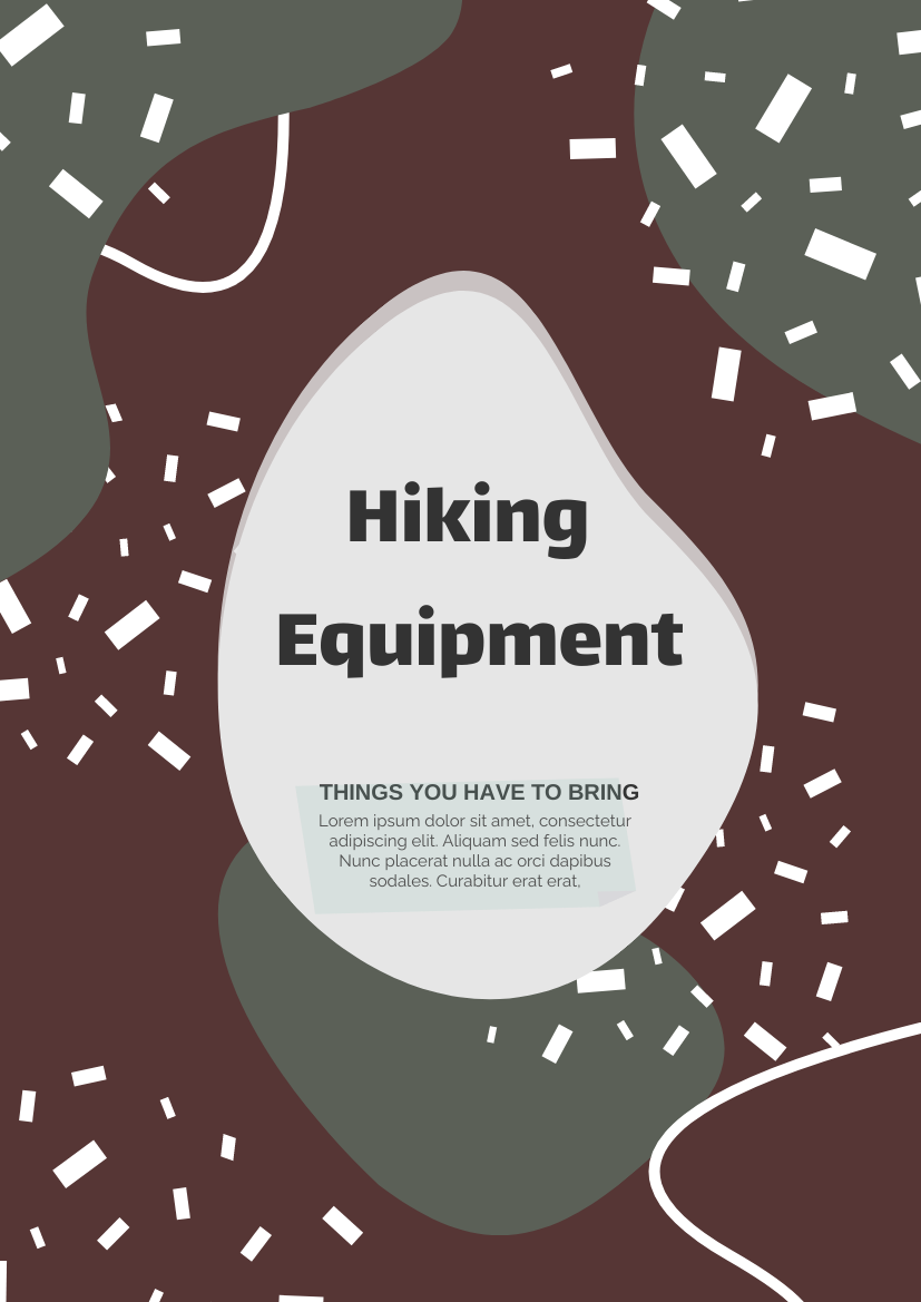 Flyer template: Hiking Equipment Flyer (Created by InfoART's Flyer maker)