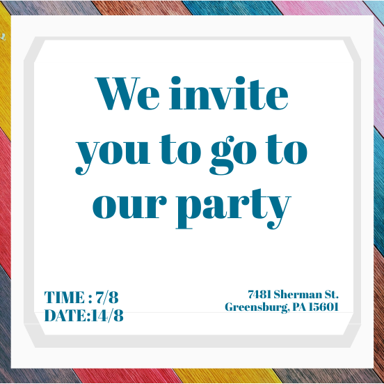 Invitation template: Colorful Invitation (Created by InfoART's Invitation marker)