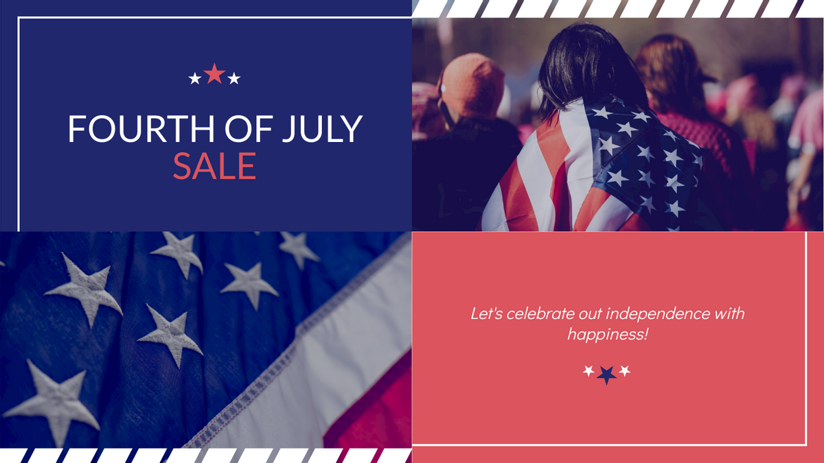 Twitter Post template: Fourth Of July Sale Twitter Post (Created by InfoART's Twitter Post maker)