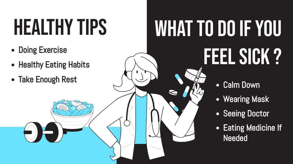 Twitter Post template: Healthy Tips Twitter Post (Created by InfoART's Twitter Post maker)