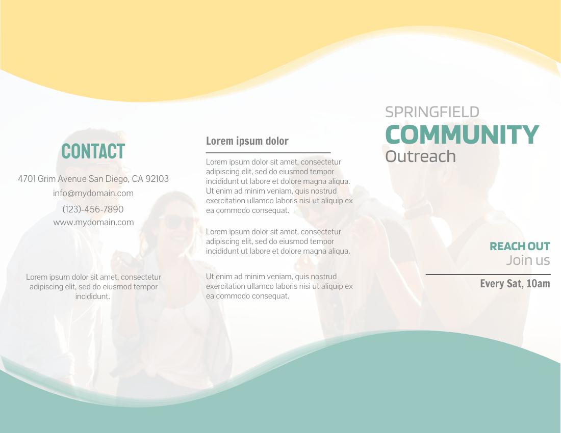 Brochure template: Community Outreach Brochure (Created by InfoART's Brochure maker)