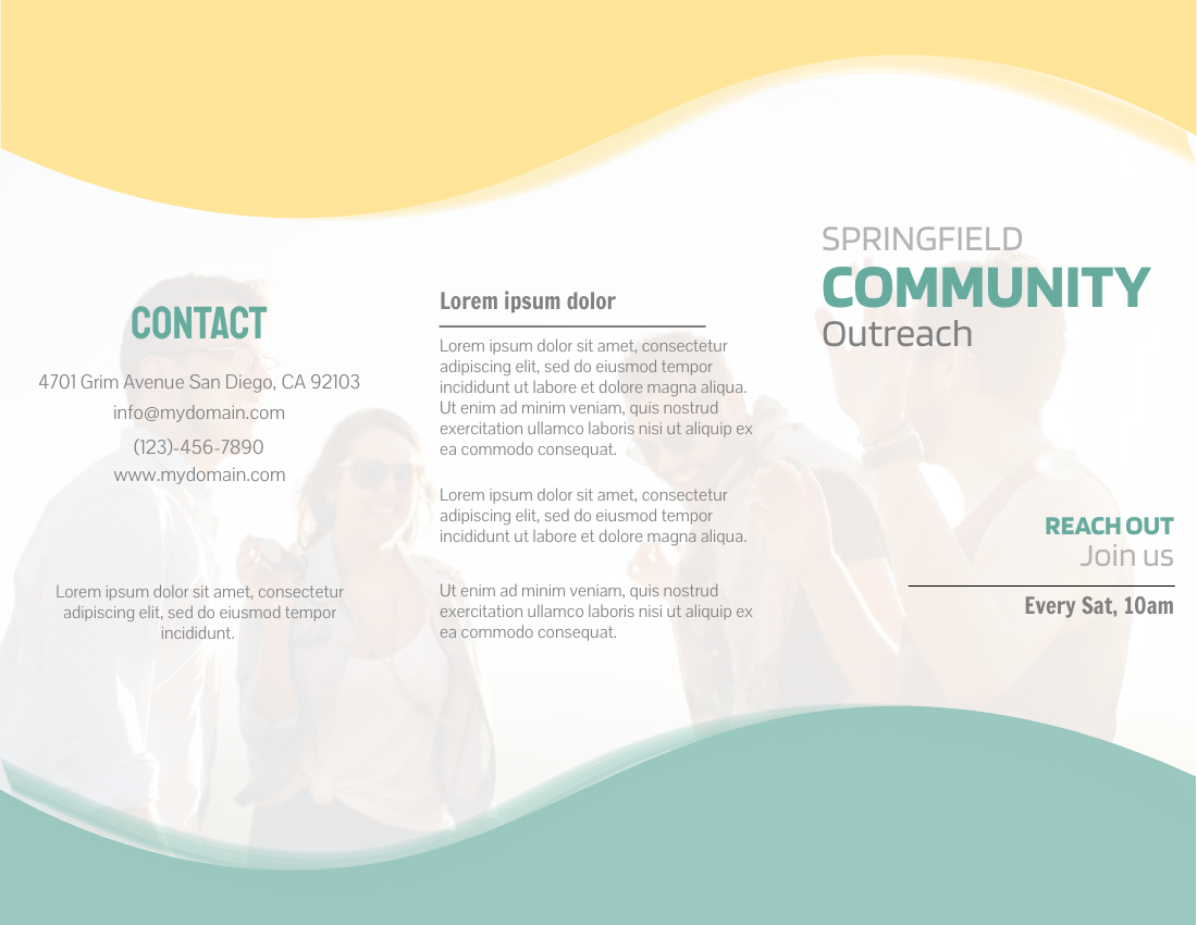 Brochure template: Community Outreach (Created by InfoART's Brochure marker)