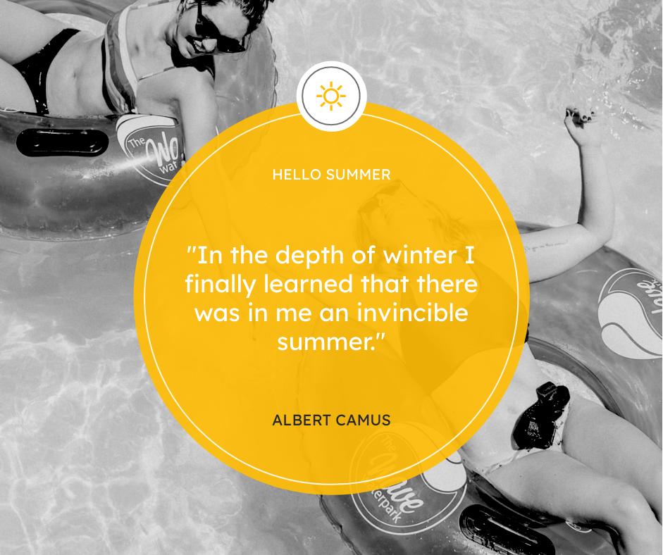 Facebook Post template: Swimming Photo Summer Quote Facebook Post (Created by InfoART's Facebook Post maker)