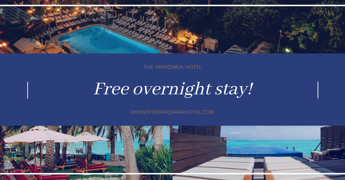 Facebook Ad template: Free Overnight Stay Hotel Promotion Facebook Ad (Created by InfoART's Facebook Ad maker)