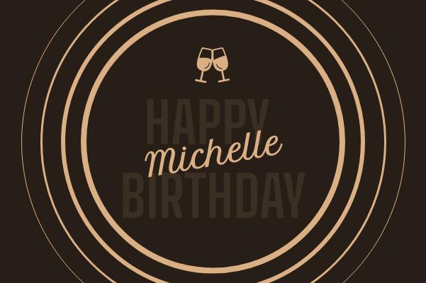 Greeting Card template: Circle Happy Birthday Greeting Card (Created by InfoART's Greeting Card maker)