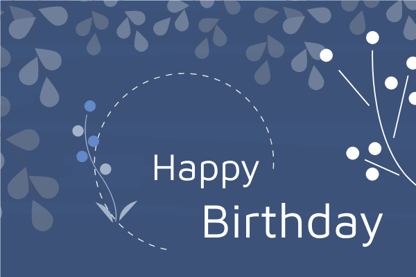 Greeting Card template: Happy Birthday Natural Style Greeting Card (Created by InfoART's Greeting Card marker)