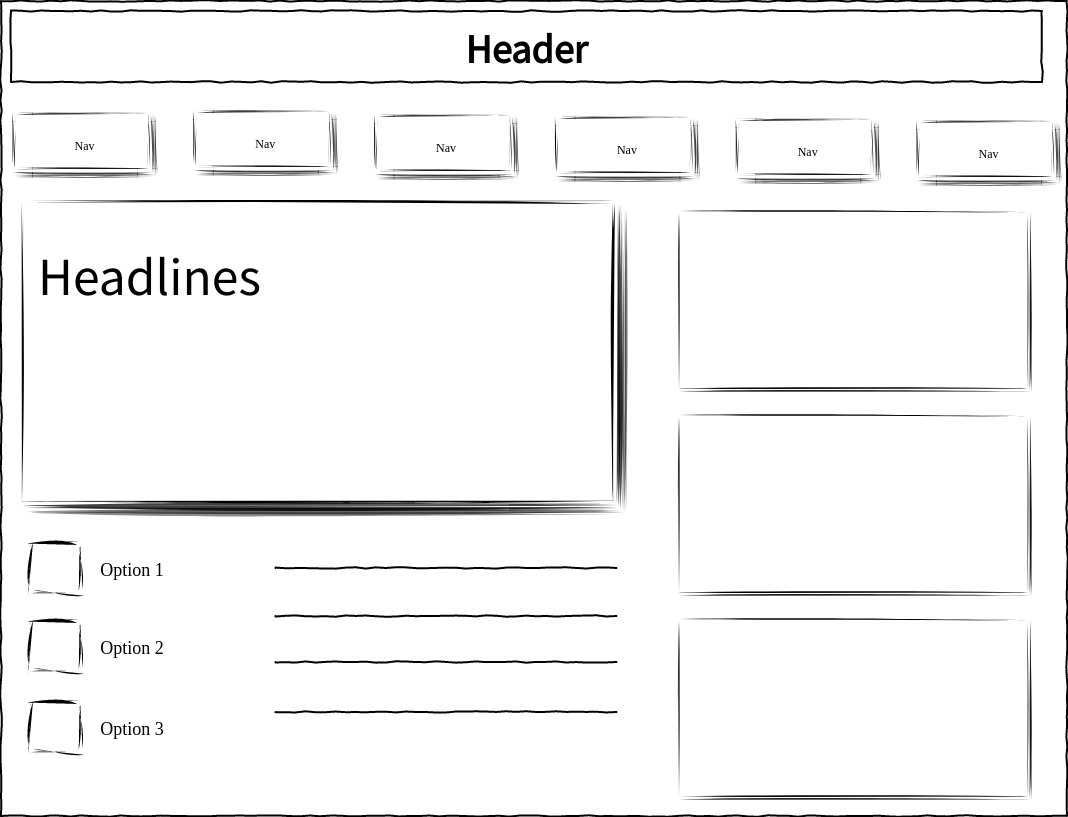 Basic Website Wired UI (Wired UI Diagram Example)