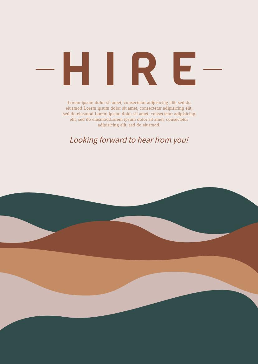 Flyer template: Hire Flyer (Created by InfoART's Flyer maker)