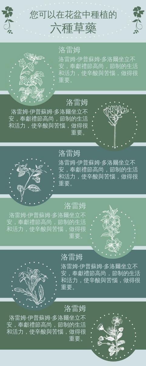 信息圖表 template: 草藥信息圖 (Created by InfoART's 信息圖表 maker)