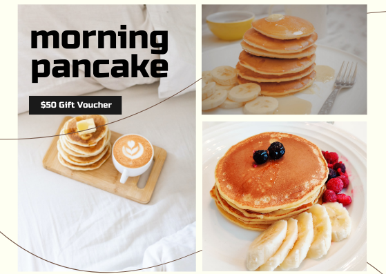 Gift Card template: Pancake Gift Card (Created by InfoART's Gift Card marker)