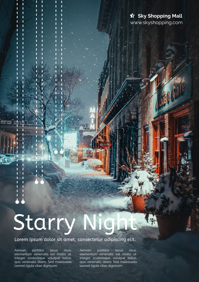 Flyer template: Shopping Mall Party Night Flyer (Created by InfoART's Flyer maker)