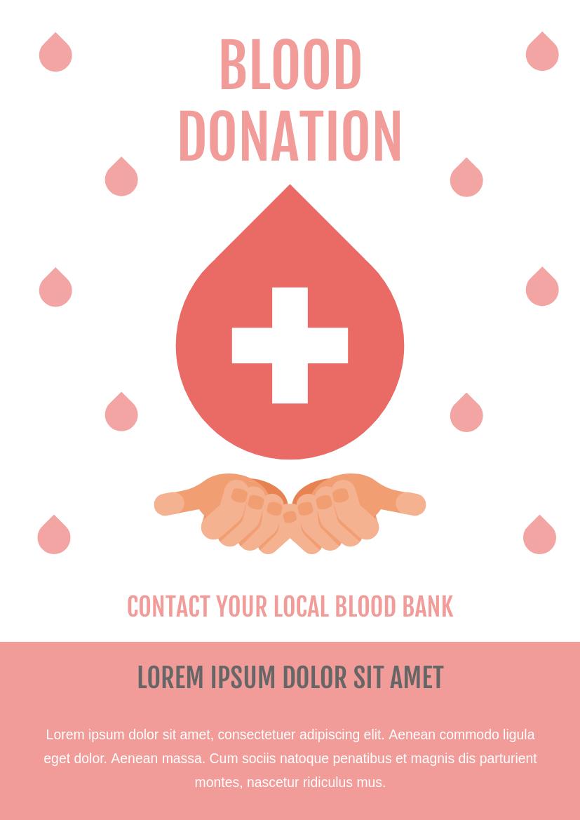 Flyer template: Blood Donation Flyer (Created by InfoART's Flyer maker)
