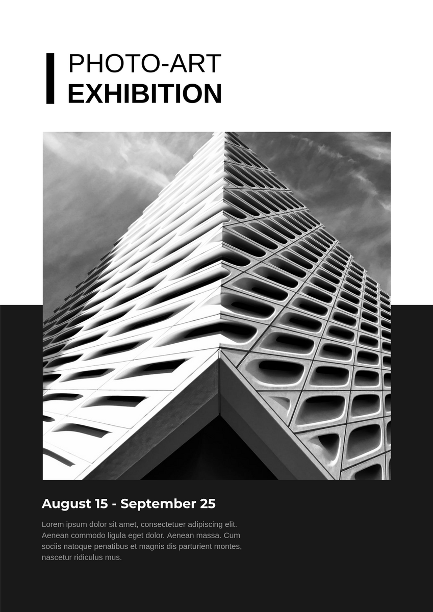 Poster template: Exhibition Poster (Created by InfoART's Poster marker)
